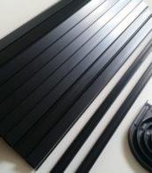 Black Tambour door slat with black finger grab