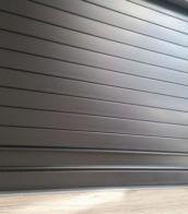 Black Tambour door slat with black finger rail