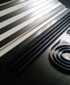 Black & Pearl white Tambour roller Door