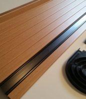 Beech Tambour door slat black handle rail 2
