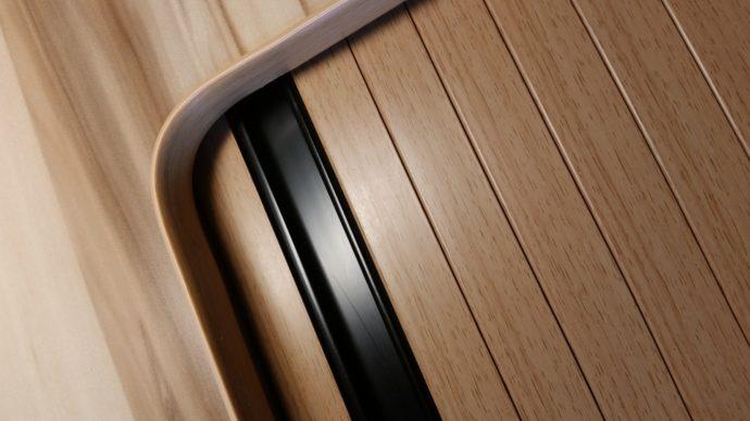 Home / Tambour Doors & Beech Woodgrain Effect Campervan Tambour Door | High peak Conversions