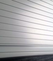 Pearl White Tambour Door slat with pearl white finger rail