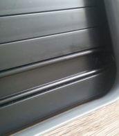 black Tambour door slat with black handle