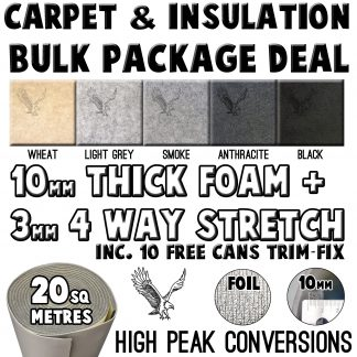 Insulation + Carpet + Glue packages